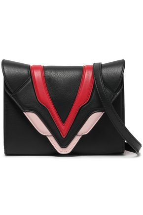ELENA GHISELLINI Felina appliquéd textured-leather clutch