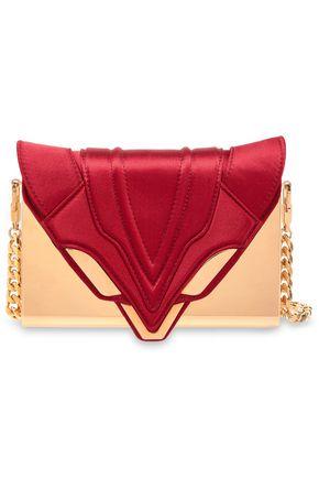 ELENA GHISELLINI Felina leather and satin clutch