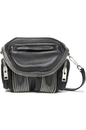 ALEXANDER WANG Marti zip-embellished leather shoulder bag