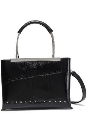 ALEXANDER WANG Studded croc-effect leather shoulder bag