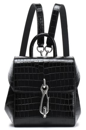 ALEXANDER WANG Hook croc-effect leather backpack