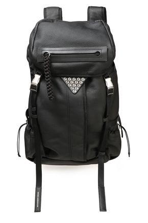 ALEXANDER WANG Snap-embellished textured-leather backpack