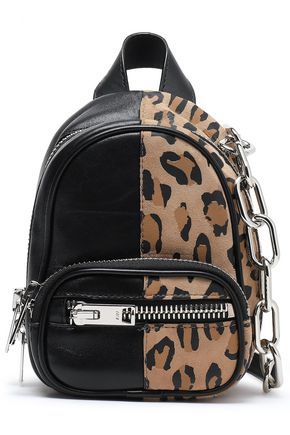 ALEXANDER WANG Attica leopard-print and textured-leather backpack