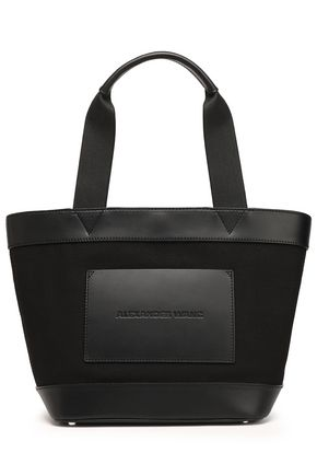 ALEXANDER WANG Paneled leather and canvas tote