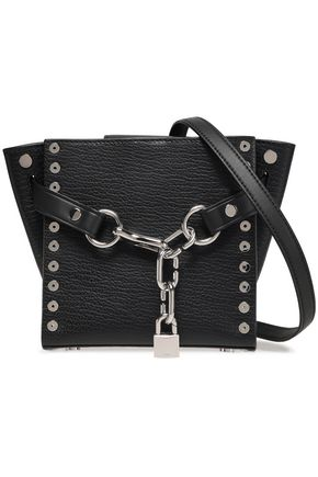 ALEXANDER WANG Attica studded textured-leather shoulder bag