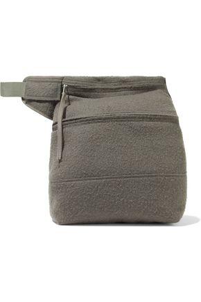 RICK OWENS Fertility brushed camel hair and linen-blend belt bag