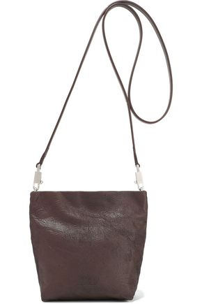 RICK OWENS Raisin textured-leather shoulder bag