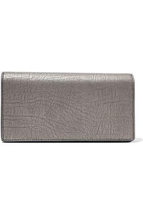 RICK OWENS Dejeunette metallic cracked-leather wallet