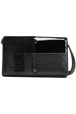 ALEXANDER WANG Patchwork leather and suede shoulder bag