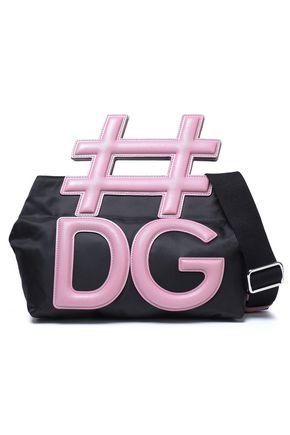 DOLCE & GABBANA Leather and shell shoulder bag