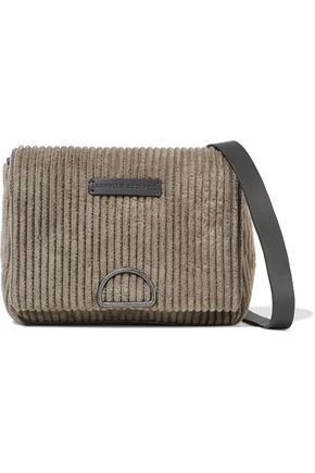 BRUNELLO CUCINELLI Bead-embellished corduroy shoulder bag