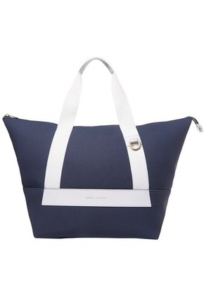 EDDIE HARROP Leather-trimmed canvas weekend bag