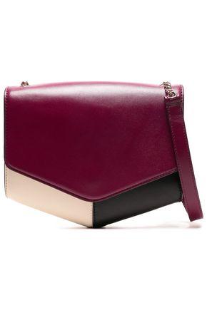 SANDRO Paneled leather shoulder bag