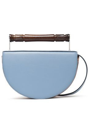 AEVHA LONDON Helvemoon two-tone leather clutch