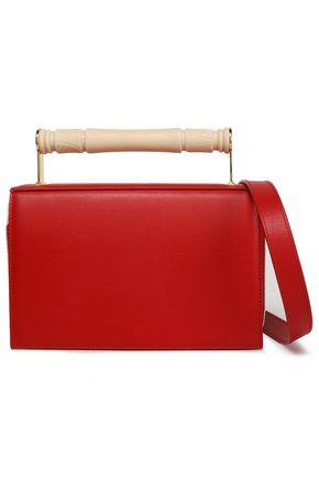 AEVHA LONDON Helve resin-trimmed two-tone leather shoulder bag