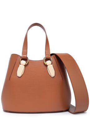 AEVHA LONDON Garnet resin-trimmed leather tote