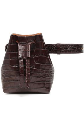 NANUSHKA Minee croc-effect leather belt bag