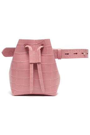 NANUSHKA Minee croc-effect faux leather belt bag