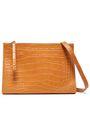 NANUSHKA Izabel croc-effect leather shoulder bag