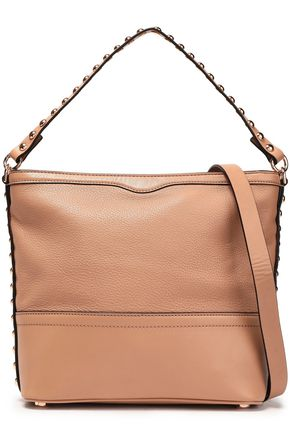 REBECCA MINKOFF Blythe Small studded textured-leather shoulder bag