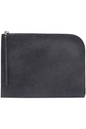 RICK OWENS Leather laptop case