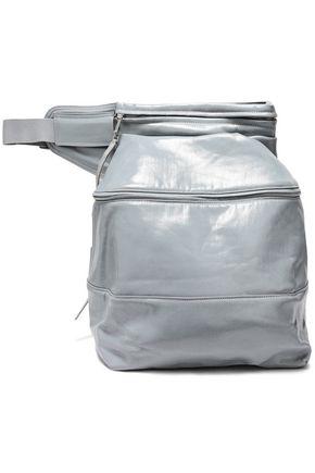 RICK OWENS Grosgrain-trimmed coated-denim belt bag