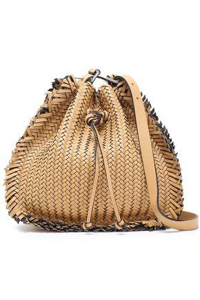 MICHAEL KORS COLLECTION Fringe-trimmed braided leather shoulder bag
