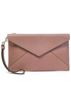 REBECCA MINKOFF Leo pebbled-leather envelope clutch