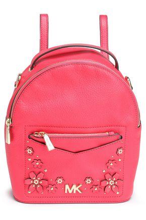 MICHAEL MICHAEL KORS حقيبة ظهر من الجلد النافر مع تصميمات من الورود المخيطة
