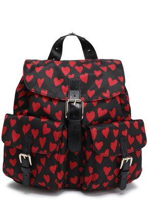 RED(V) حقيبة ظهر من قماش مقاوم للماء مطبعة برسومات