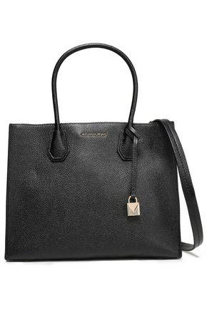 MICHAEL MICHAEL KORS Logo-embellished textured-leather shoulder bag