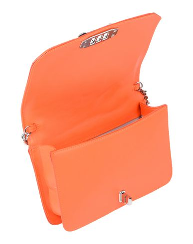 Фото 2 - Сумку через плечо оранжевого цвета