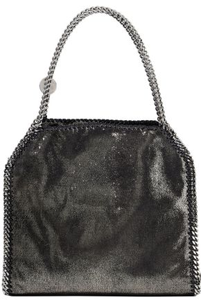 STELLA McCARTNEY Falabella metallic faux brushed-leather tote