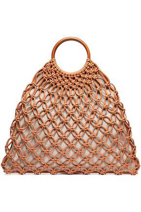"MICHAEL KORS COLLECTION حقيبة توت ""كوبر"" من الجلد المصنوع من المكرمية"