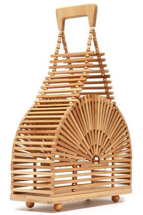 CULT GAIA Dome mini bamboo clutch