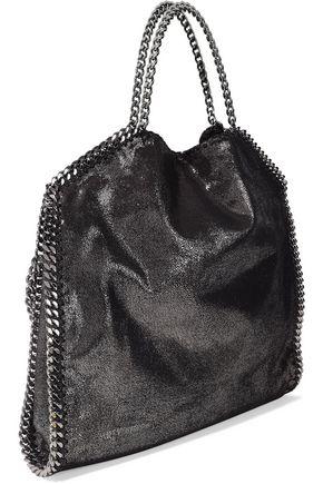 STELLA McCARTNEY Falabella metallic faux brushed-leather tote