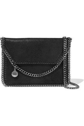 STELLA McCARTNEY Falabella mini faux brushed-leather shoulder bag