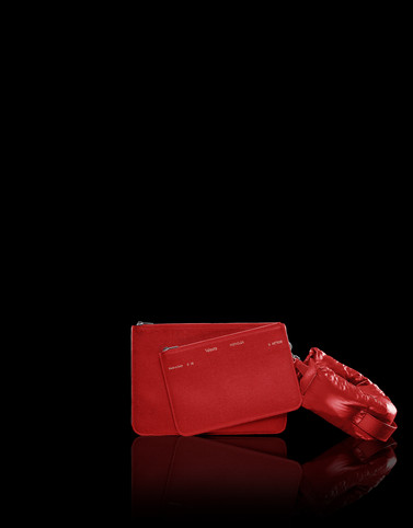 VX DOUBLE POUCH Red 2 Moncler 1952 Valextra Woman