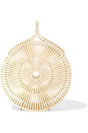 CULT GAIA Zaha bamboo clutch