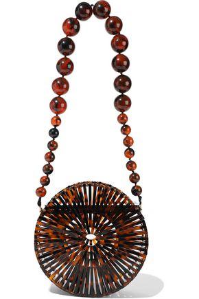 CULT GAIA Luna tortoiseshell acrylic shoulder bag
