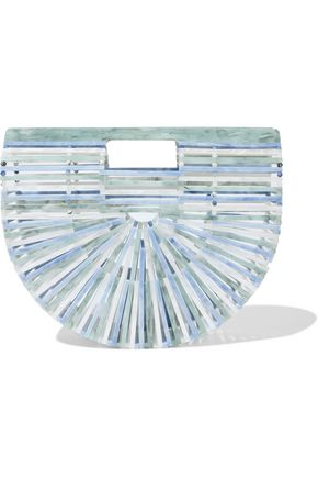 CULT GAIA Ark small marbled acrylic clutch