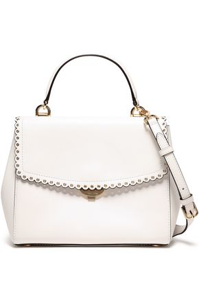 MICHAEL MICHAEL KORS Scallop-trimmed leather shoulder bag