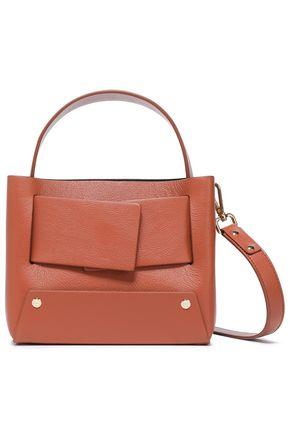 YUZEFI Color-block textured-leather shoulder bag
