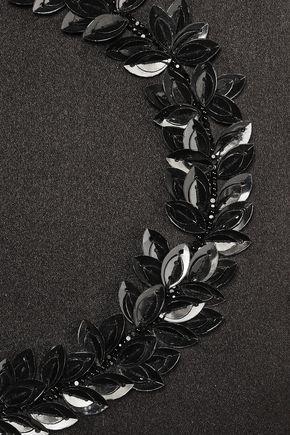 OSCAR DE LA RENTA 装飾付き サテン クラッチ