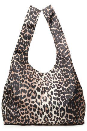 GANNI Leopard-print shell tote