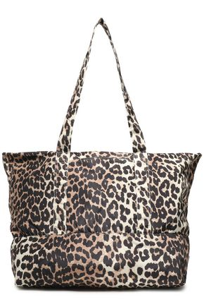 GANNI Floral-print shell tote