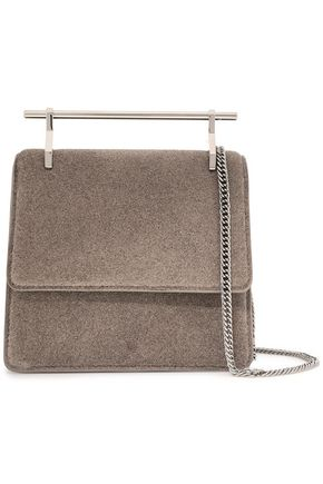 M2MALLETIER Collectionneuse glittered leather clutch