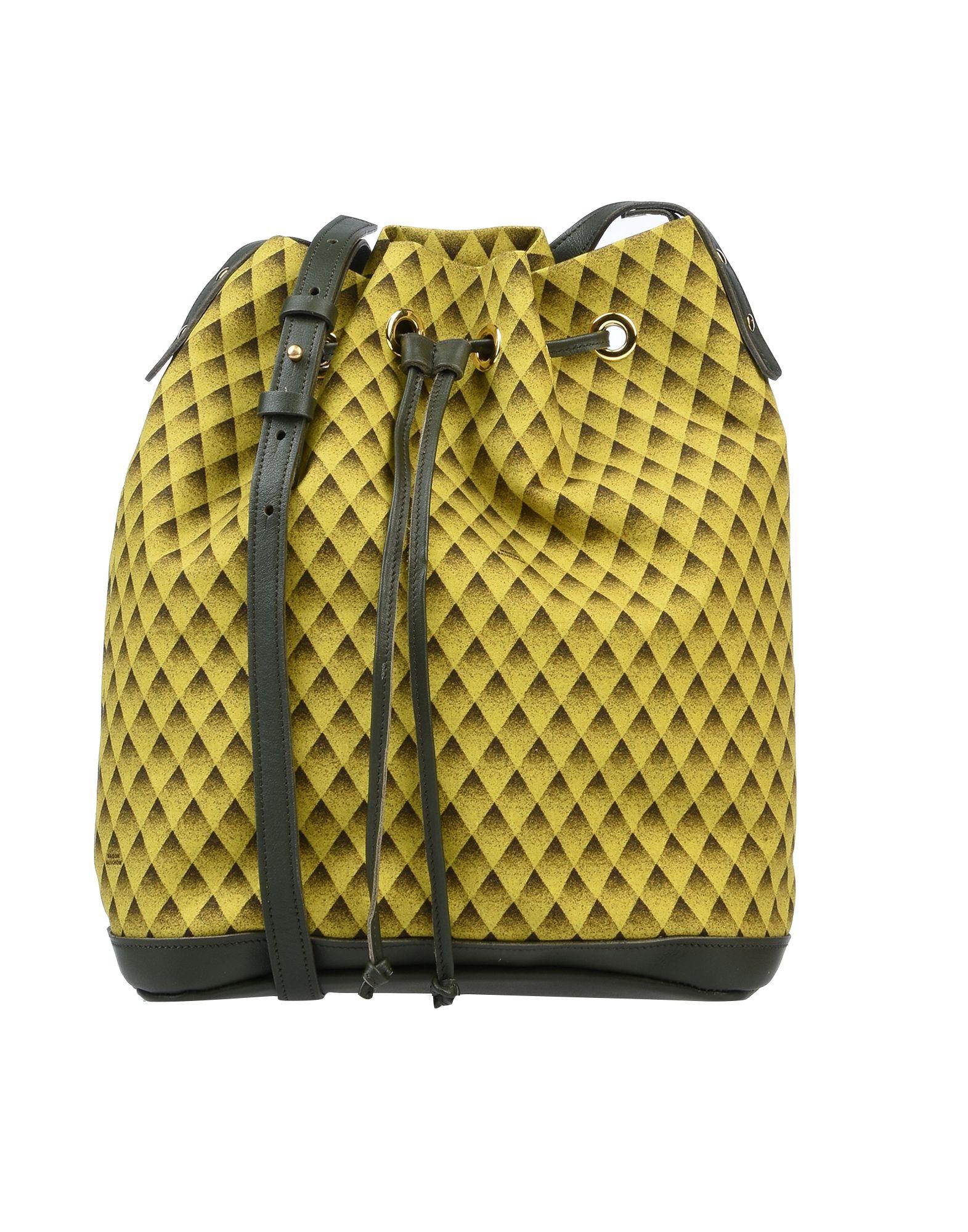 《セール開催中》MAISON BALUCHON レディース メッセンジャーバッグ ビタミングリーン 紡績繊維