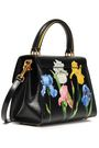 DOLCE & GABBANA Floral-print textured patent-leather shoulder bag