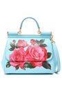 DOLCE & GABBANA Floral-print textured-leather shoulder bag
